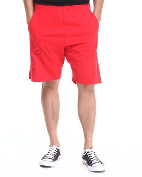 Ur-ID 220757 Hustle Gang - Men Red Tonal Chief Shorts