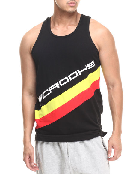 Crooks & Castles - Men Black Speedway Tank