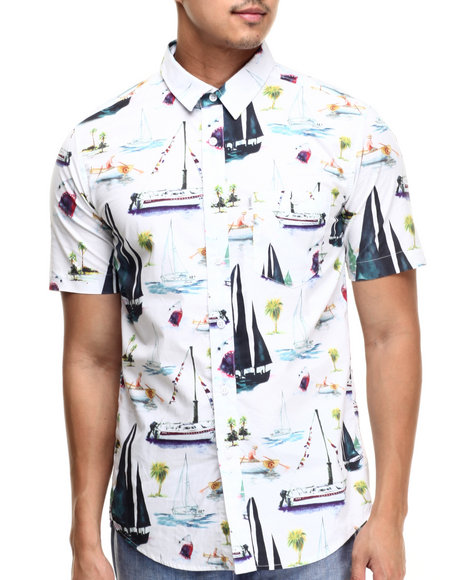 Crooks & Castles - Men White Utopia S/S Button-Down