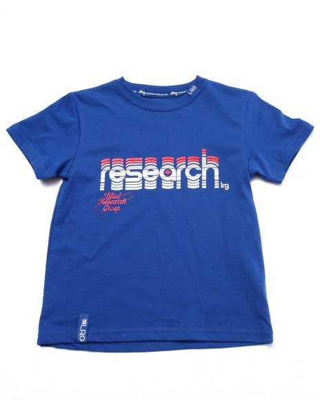Lrg - Boys Blue Research Logo Tee (4-7)