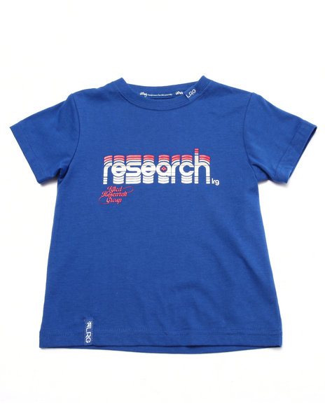 Lrg - Boys Blue Research Logo Tee (2T-4T)