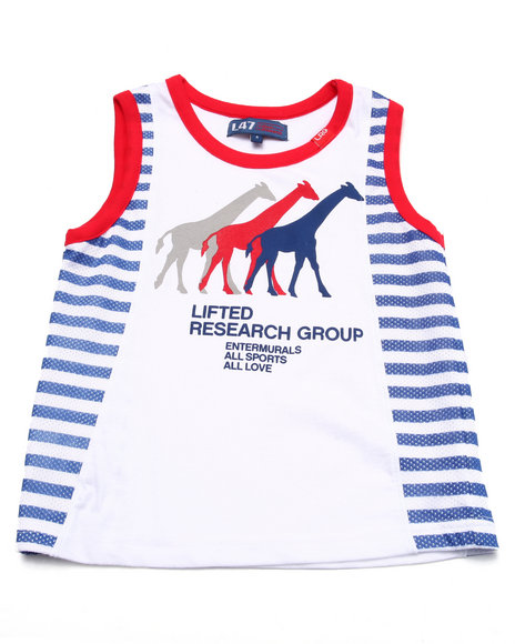 Lrg - Boys White All Sports Tank (4-7)