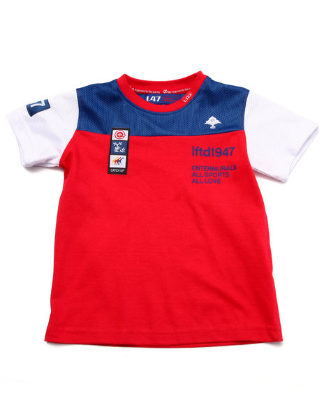 Lrg - Boys Red Catch Up Tee (2T-4T) - $6.99