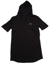 Hoodies - ADIDAS BASKETBALL BLACK ICE S/S HOODY (8-20)