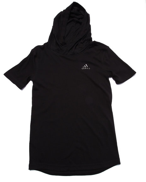 Adidas - Boys Black Adidas Basketball Black Ice S/S Hoody (8-20)