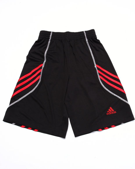 Adidas - Boys Black Adidas Basketball Basics Shorts (8-20)