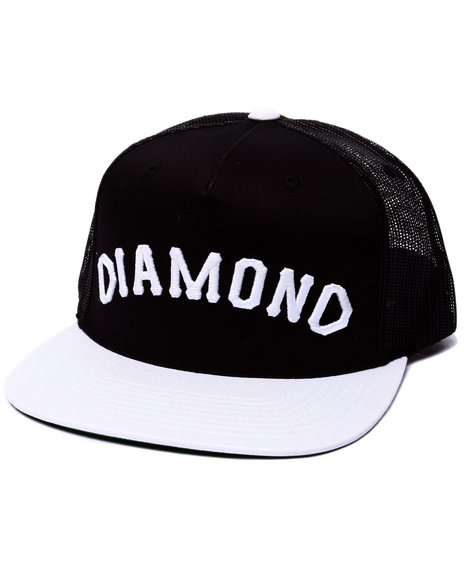 Diamond Supply Co Men Diamond Arch Snapback Cap Black - $40.00