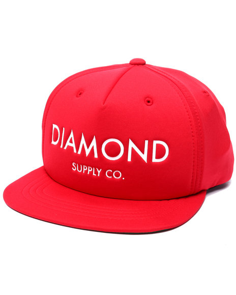 Diamond Supply Co Men Diamond Classic Snapback Cap Red - $40.00