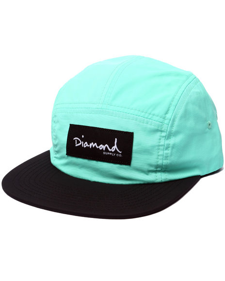 Diamond Supply Co Men Diamond Nylon 5-Panel Camp Hat Teal - $40.00