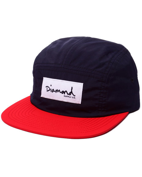 Diamond Supply Co Men Diamond Nylon 5-Panel Camp Hat Navy - $40.00