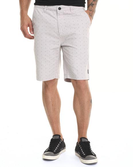 Ur-ID 220863 Diamond Supply Co - Men Grey Micro Diamond Chino Shorts