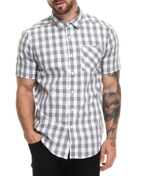 Ecko - Men Light Grey,White No Brainer S/S Button-Down - $27.99
