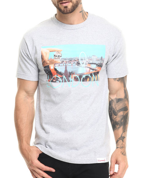 Diamond Supply Co - Men Grey London Life Tee
