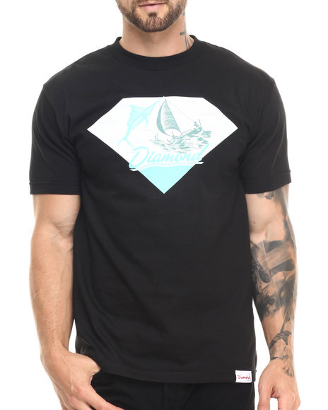 Diamond Supply Co - Men Black Marlins Tee