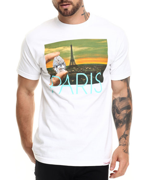 Diamond Supply Co - Men White Paris Life Tee
