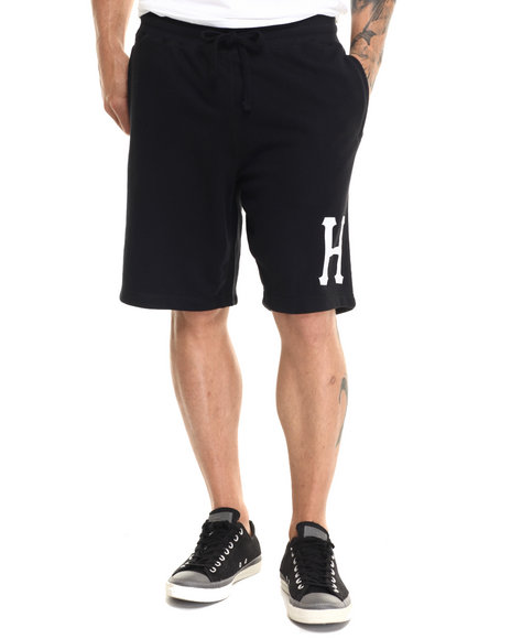 Ur-ID 220855 HUF - Men Black Huf Classic H Fleece Shorts