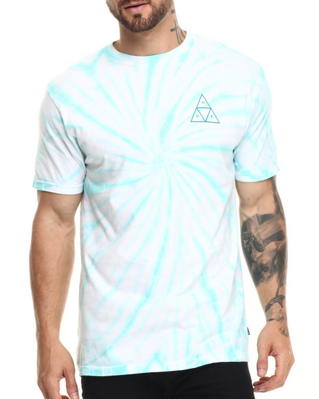 Huf - Men Green Washed Out Triple Triangle Tee