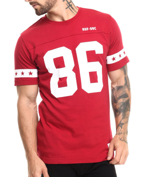 Huf - Men Red 5 Star Football Jersey