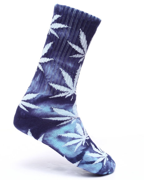 Huf - Men Navy Tie Dye Plantlife Socks