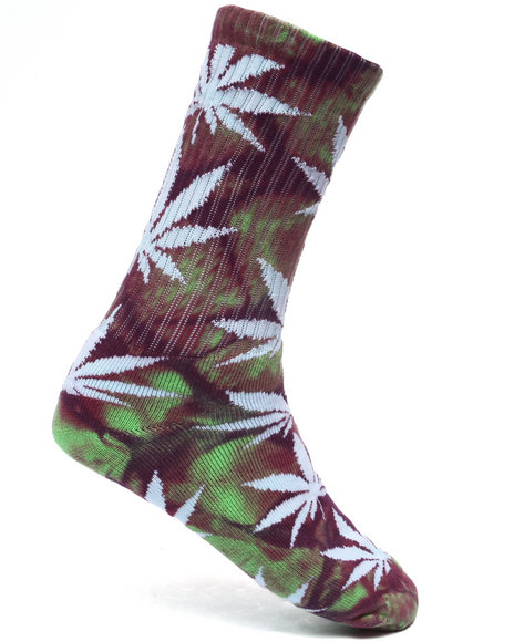 Huf - Men Green,Purple Tie Dye Plantlife Socks