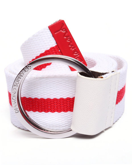 Diamond Supply Co Men Og Script D-Ring Belt Red