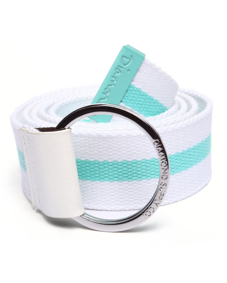 Diamond Supply Co Men Og Script D-Ring Belt Teal