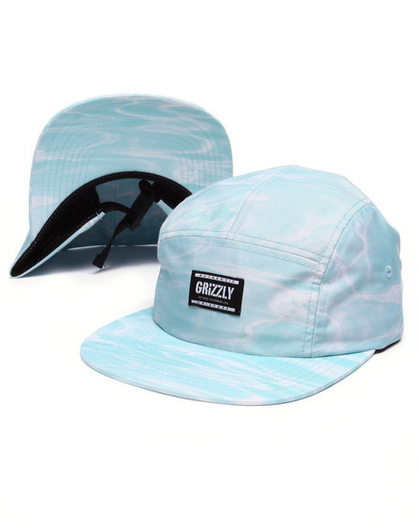 Ur-ID 223445 Grizzly Griptape - Men Blue Gone Fishing Camp Hat