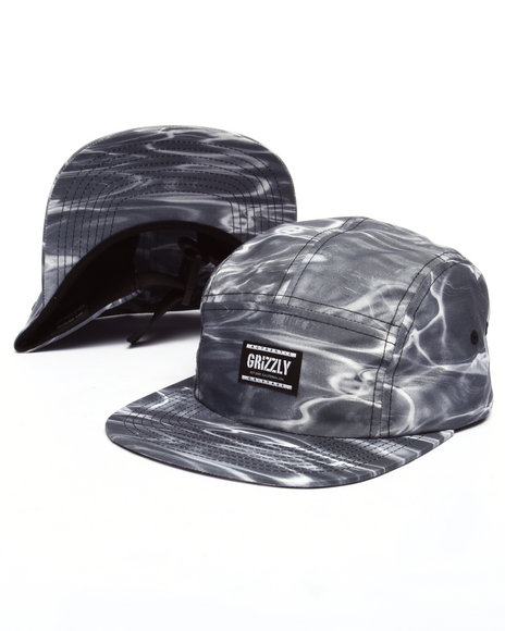 Ur-ID 223446 Grizzly Griptape - Men Black Gone Fishing Camp Hat