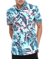 Button-downs - S/S Tropical Tye Dye Buttondown