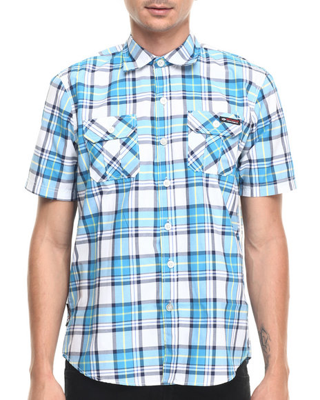 Ur-ID 220908 Enyce - Men Blue Vincent S/S Button-Down