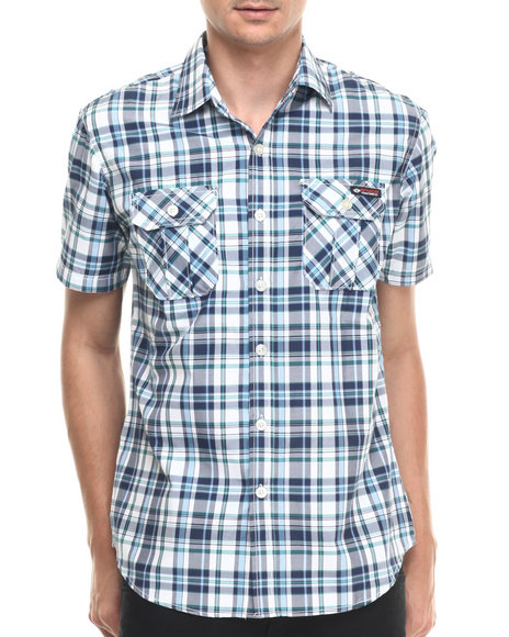Enyce - Men Blue Sloan S/S Button-Down - $9.99