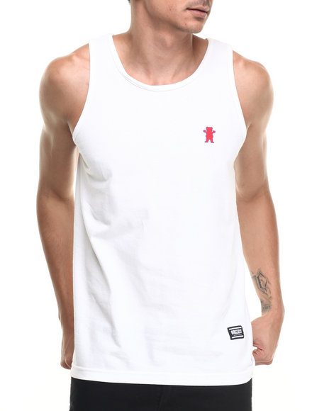 Grizzly Griptape - Men White Mini Bear 01 Tank