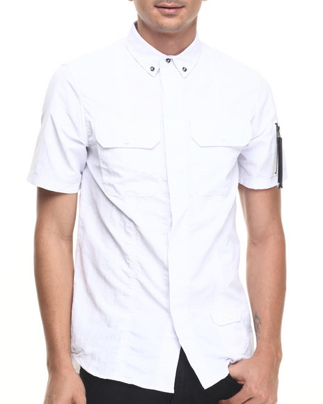 Rocawear Blak - Men White Sumner S/S Button-Down