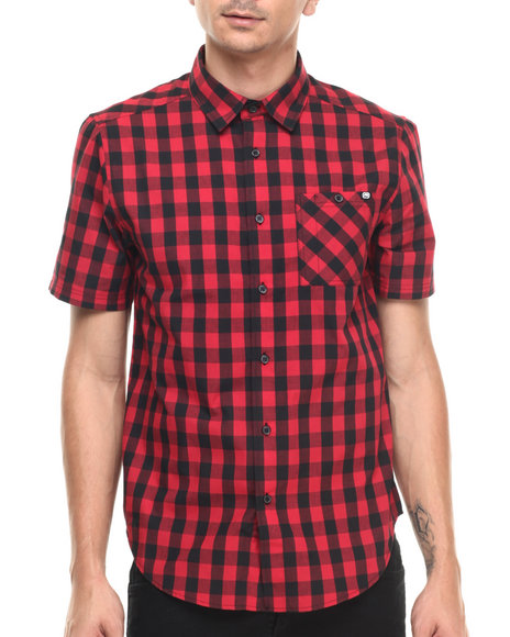 Ur-ID 220896 Ecko - Men Red No Brainer S/S Button-Down