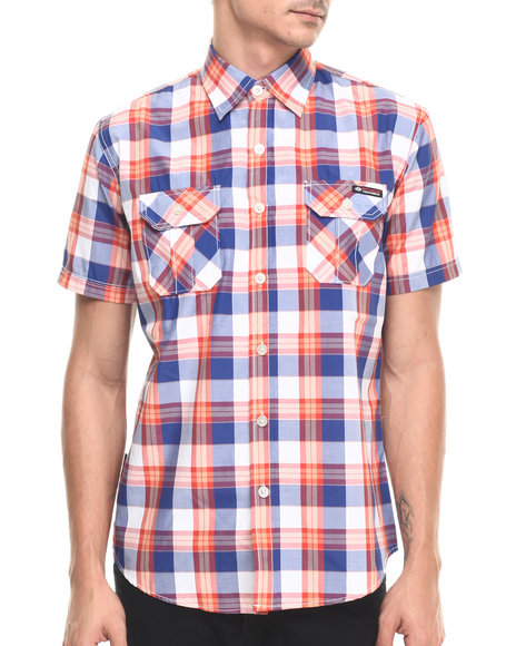 Ur-ID 220899 Enyce - Men Orange Eric S/S Button-Down