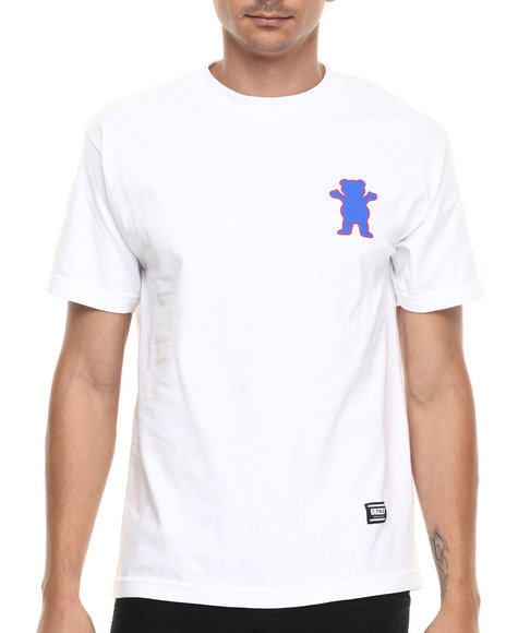 Ur-ID 220912 Grizzly Griptape - Men White Sports Academy Tee