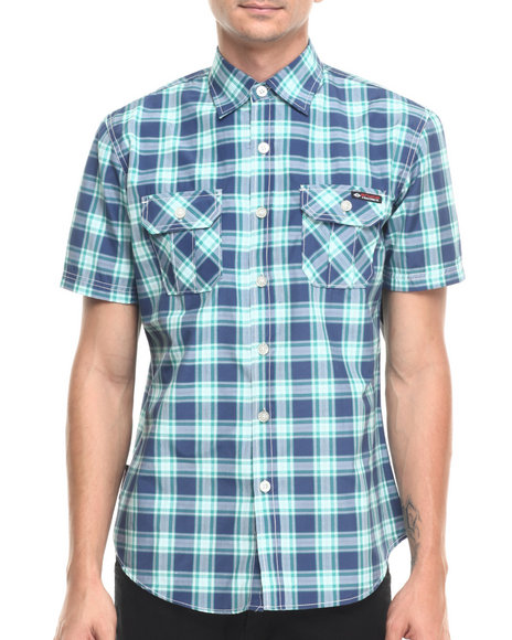 Ur-ID 220918 Enyce - Men Blue Adam S/S Button-Down