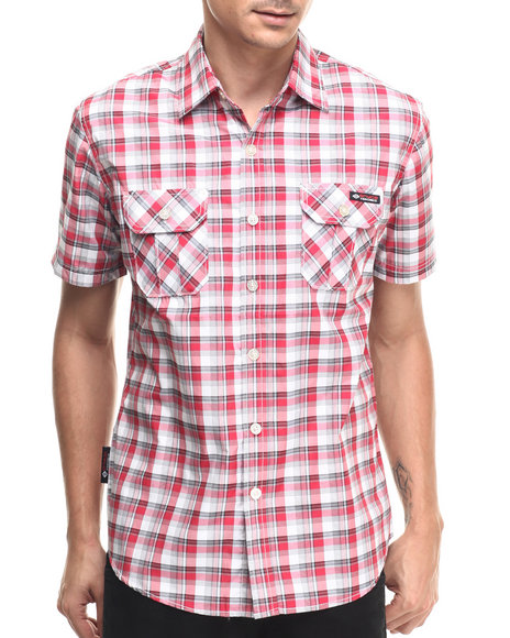 Enyce - Men Red Reyer S/S Button-Down - $32.00