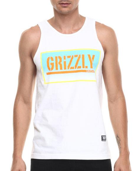 Ur-ID 220935 Grizzly Griptape - Men White Sunrise Stamp Tank