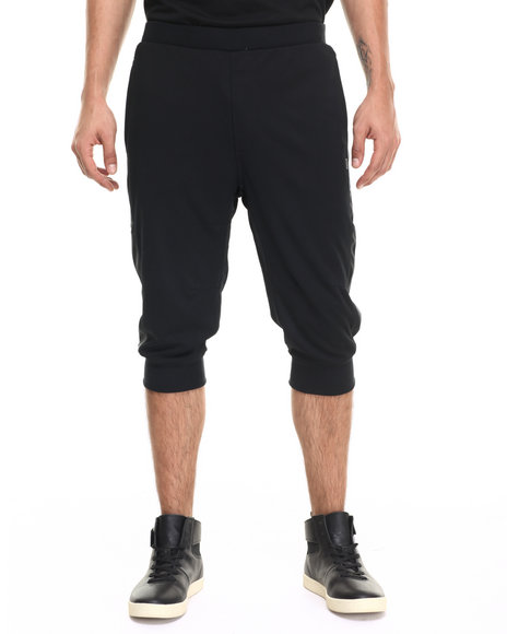 Rocawear Blak - Men Black Mesh Jogger Shorts