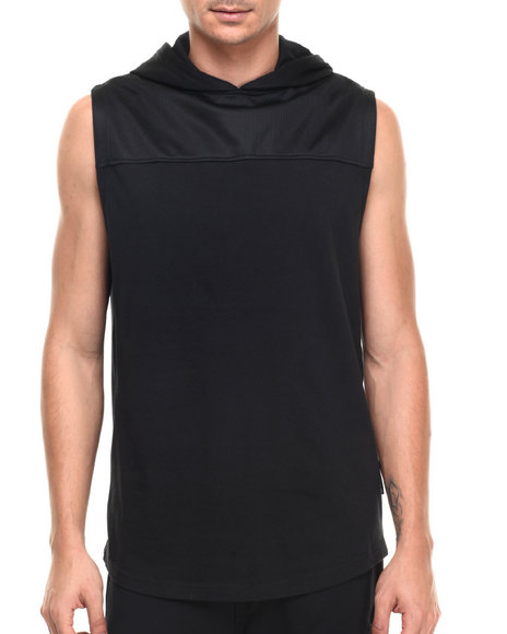 Rocawear Blak - Men Black Hooded Muscle Tee