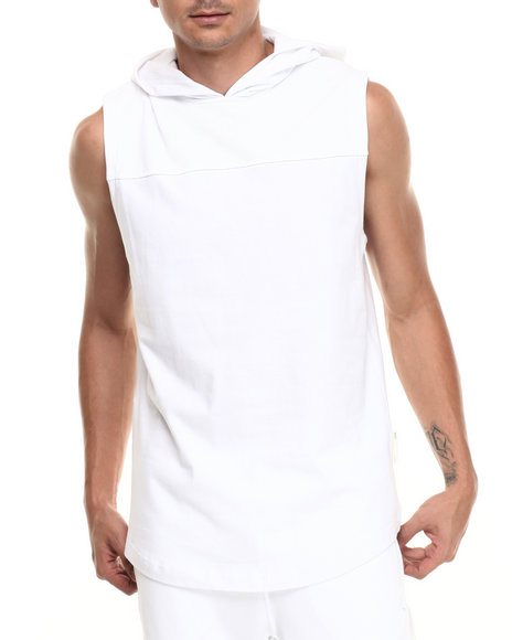 Ur-ID 220963 Rocawear BLAK - Men White Hooded Muscle Tee
