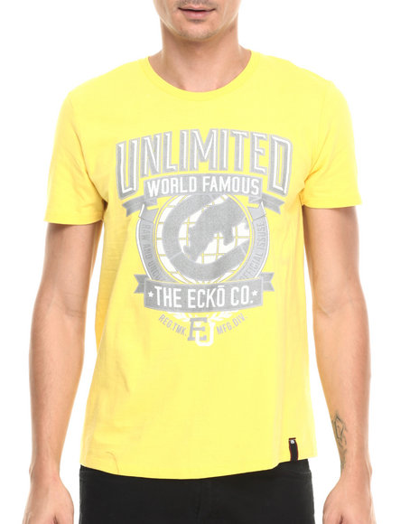 Ur-ID 220964 Ecko - Men Yellow Wordwide T-Shirt
