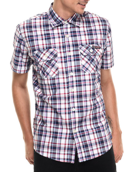 Ur-ID 220965 Enyce - Men Navy Lennie S/S Button-Down