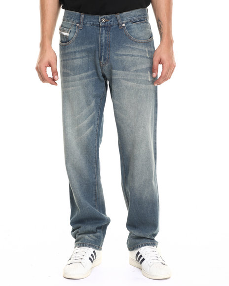 Ecko - Men Light Wash Slim Straight Denim Jeans
