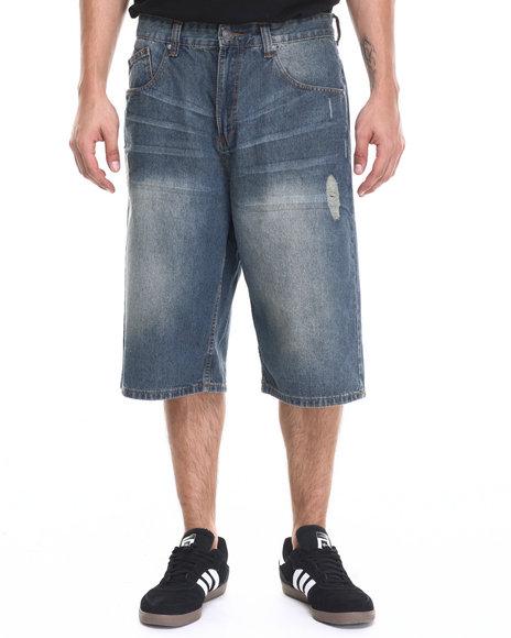 Ur-ID 220924 Enyce - Men Medium Wash Cali Fashion Shorts