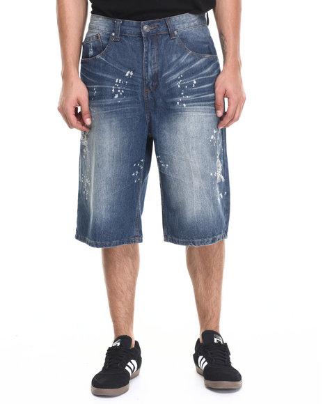 Ur-ID 220931 Enyce - Men Light Wash Cali Fashion Shorts