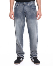 Men - Loose Straight Fit Denim Jeans