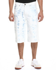 Men - White Light Denim Shorts