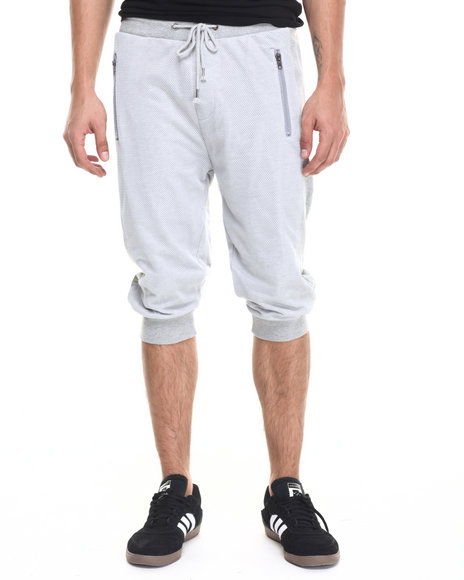 Ur-ID 220938 Waimea - Men Grey Mesh Overlay Long Jogger Short